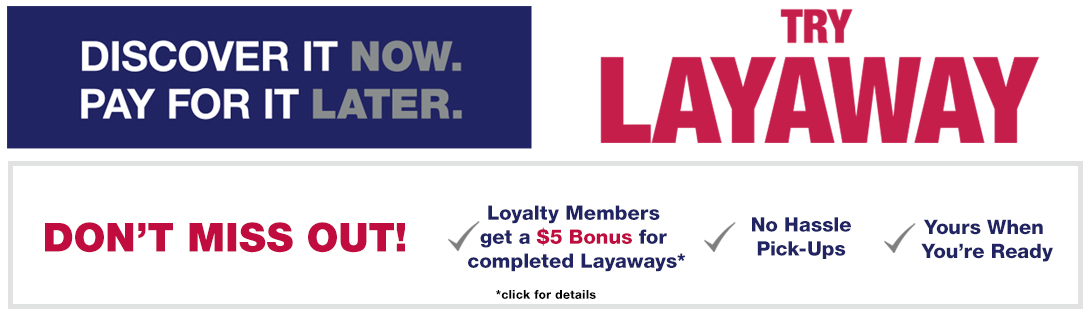 Layaway offered at Burlington