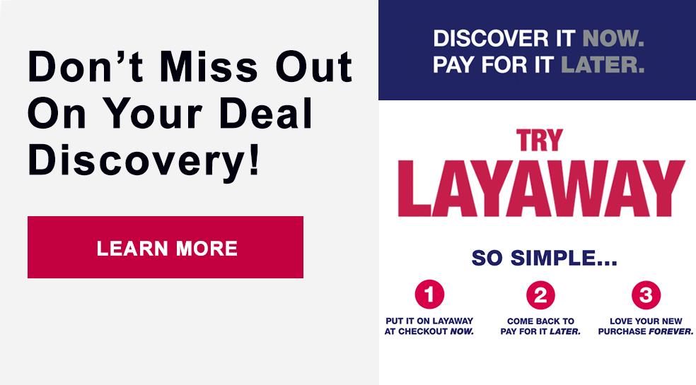 Try Layaway at Burlington!