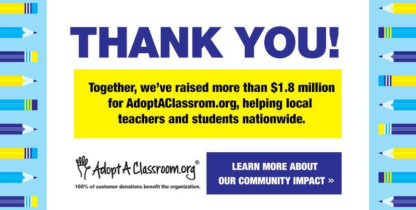 Thank you! From Burlington & AdoptAClassroom