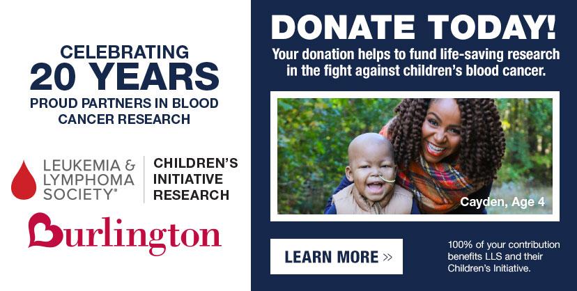 Donate to LLS at Burlington